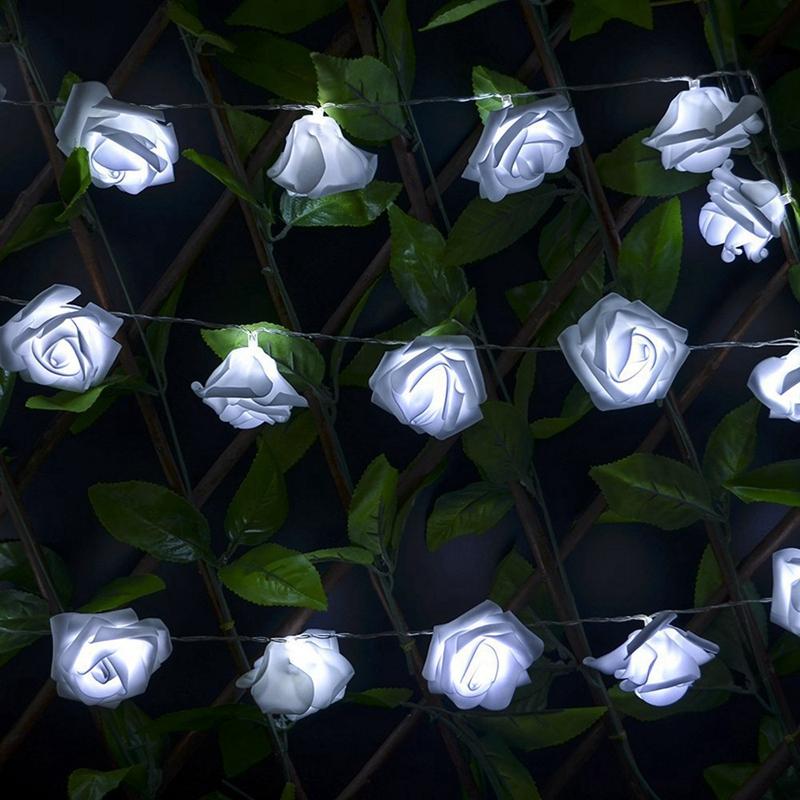 USB-20-Roses-Flower-Garland-Led-Christmas-Holiday-String-Lights-Valentine-W-R9S5 thumbnail 20