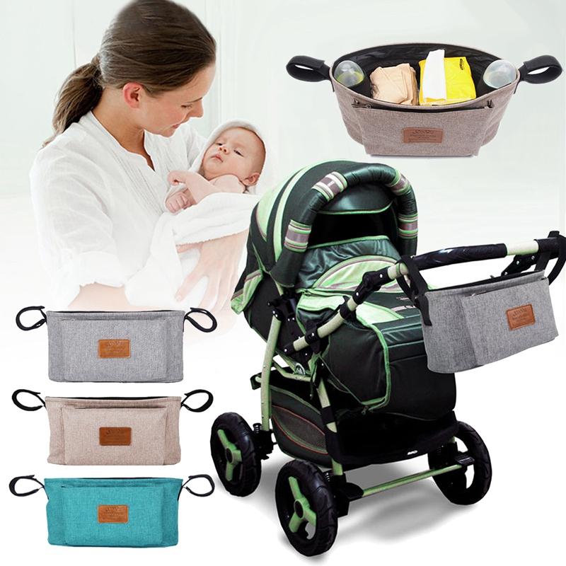 thumbnail 19 - Baby Stroller Pram Pushchair Travel Organizer Storage Bag Bottle Diaper Hol Q6R3