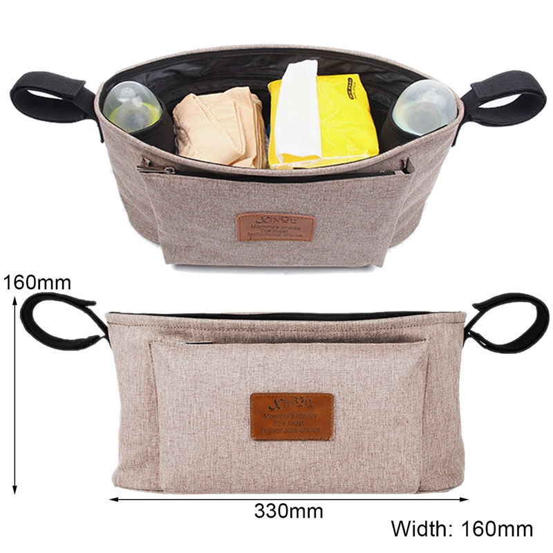 thumbnail 23 - Baby Stroller Pram Pushchair Travel Organizer Storage Bag Bottle Diaper Hol Q6R3