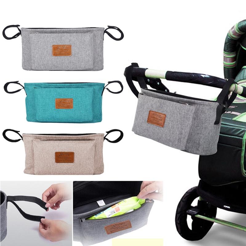 thumbnail 24 - Baby Stroller Pram Pushchair Travel Organizer Storage Bag Bottle Diaper Hol Q6R3