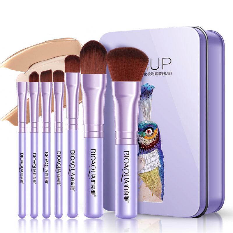 BIOAQUA-7Pcs-Makeup-Brushes-Set-Eye-Lip-Face-Foundation-Brush-Kit-Cosmetic-Tools miniatuur 2
