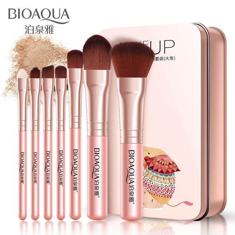 BIOAQUA-7Pcs-Makeup-Brushes-Set-Eye-Lip-Face-Foundation-Brush-Kit-Cosmetic-Tools miniatuur 10