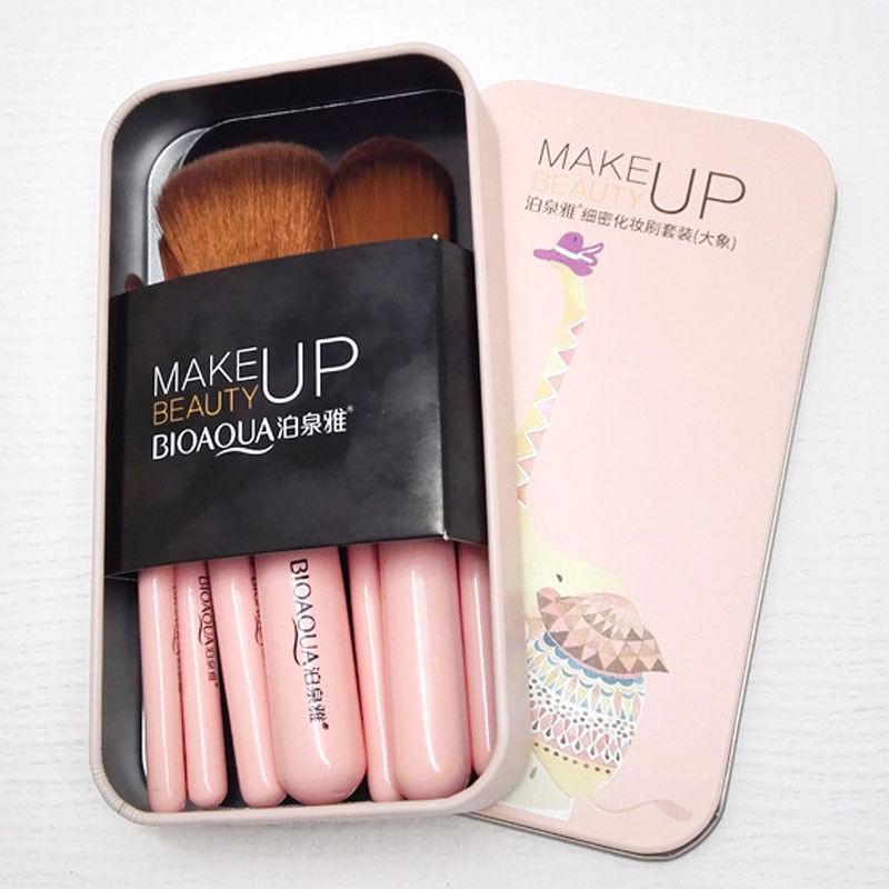 BIOAQUA-7Pcs-Makeup-Brushes-Set-Eye-Lip-Face-Foundation-Brush-Kit-Cosmetic-Tools miniatuur 11