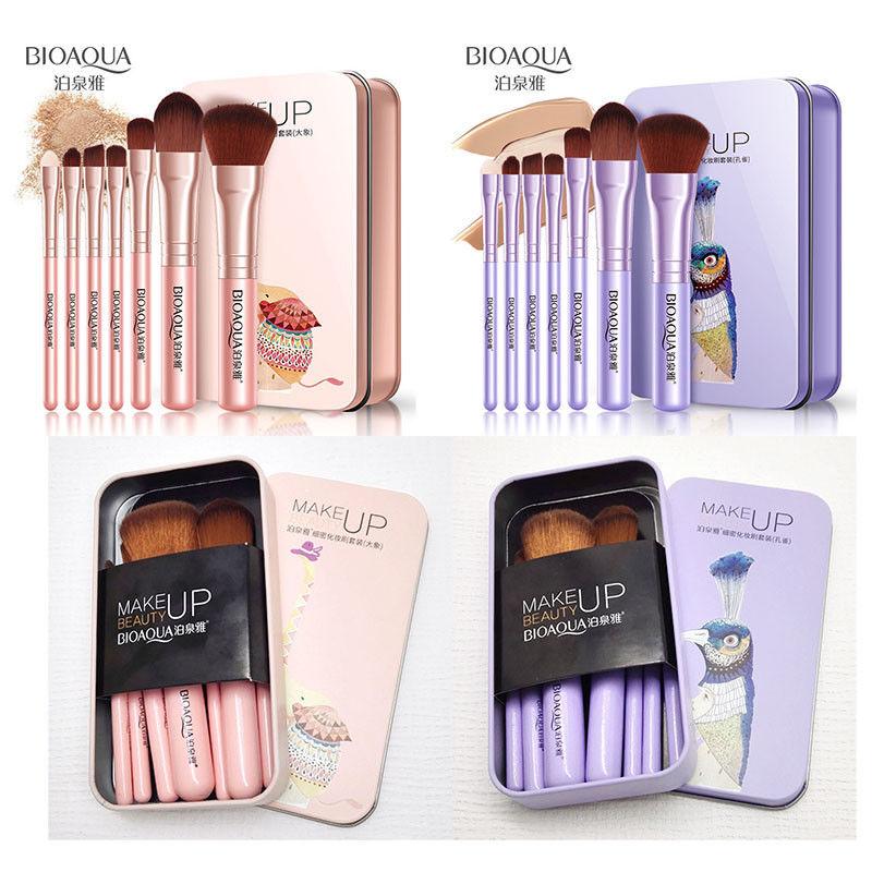BIOAQUA-7Pcs-Makeup-Brushes-Set-Eye-Lip-Face-Foundation-Brush-Kit-Cosmetic-Tools miniatuur 13