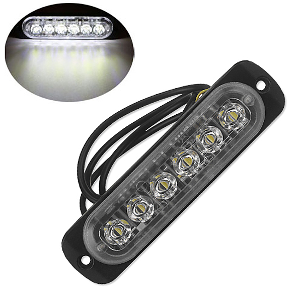 12V-24V-6LED-Light-Flash-Emergency-Car-Vehicle-Warning-Strobe-Flashing-W1A7 Indexbild 3