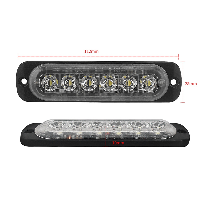 12V-24V-6LED-Light-Flash-Emergency-Car-Vehicle-Warning-Strobe-Flashing-W1A7 Indexbild 5
