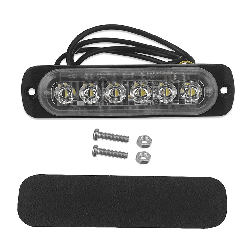 12V-24V-6LED-Light-Flash-Emergency-Car-Vehicle-Warning-Strobe-Flashing-W1A7 Indexbild 6