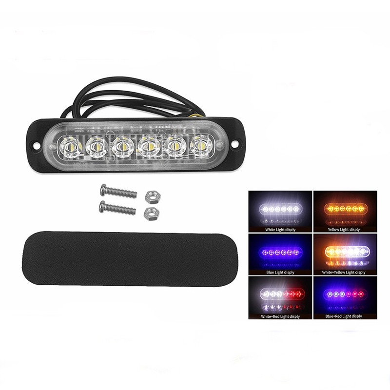 12V-24V-6LED-Light-Flash-Emergency-Car-Vehicle-Warning-Strobe-Flashing-W1A7 Indexbild 7