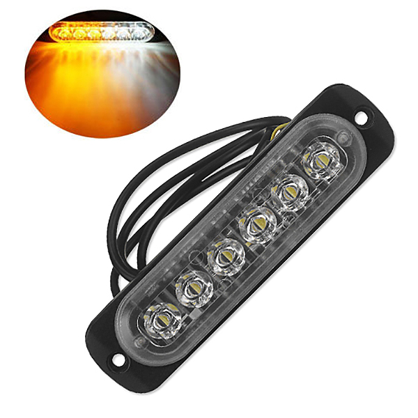 12V-24V-6LED-Light-Flash-Emergency-Car-Vehicle-Warning-Strobe-Flashing-W1A7 Indexbild 23