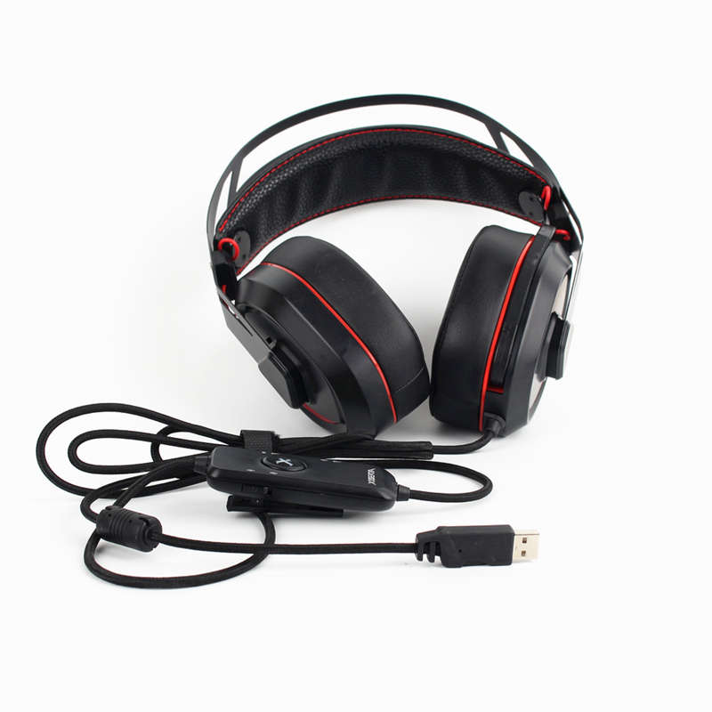 Xiberia S18 Pc Headset Usb 7.1 Surround Sound Gaming Headphones Stereo BassR9P5