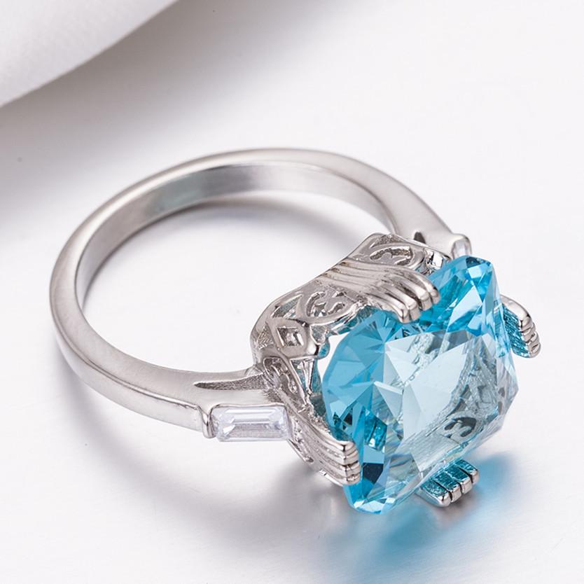 1X-Anillo-Nupcial-De-Compromiso-Con-Anillo-De-Diamante-De-Topacio-Azul-Con-A2O9 miniatura 3