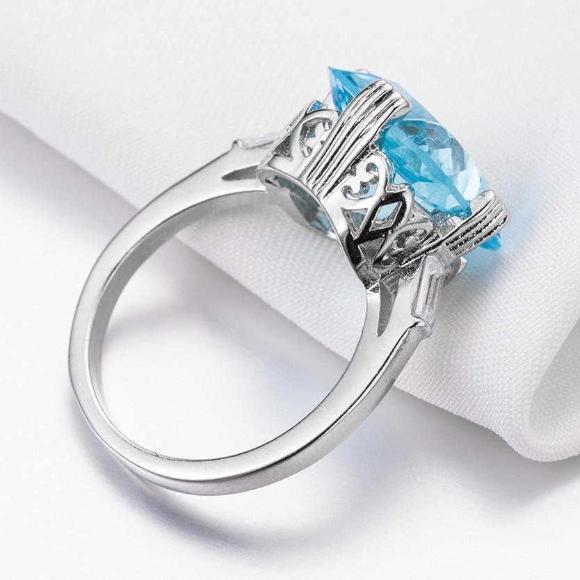 1X-Anillo-Nupcial-De-Compromiso-Con-Anillo-De-Diamante-De-Topacio-Azul-Con-A2O9 miniatura 4