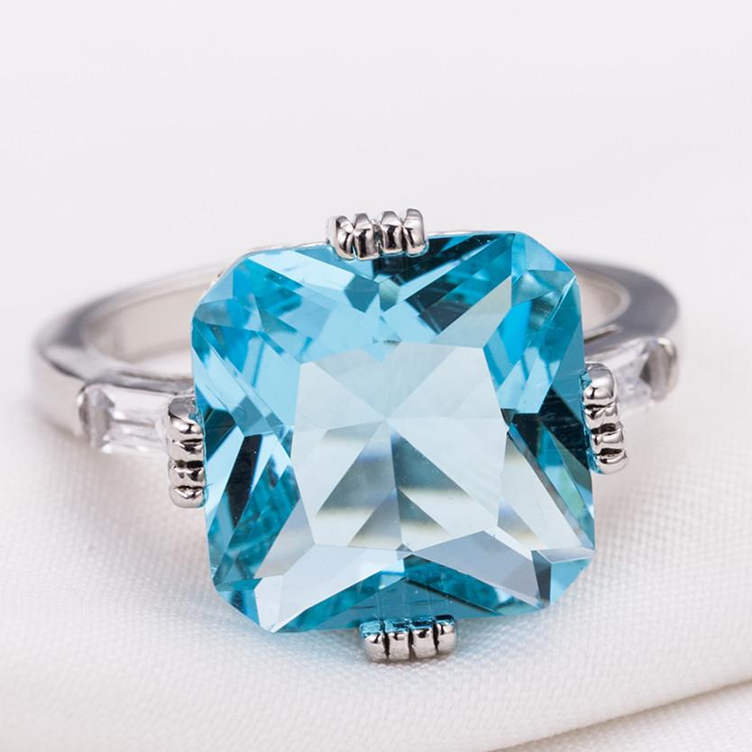 1X-Anillo-Nupcial-De-Compromiso-Con-Anillo-De-Diamante-De-Topacio-Azul-Con-A2O9 miniatura 5
