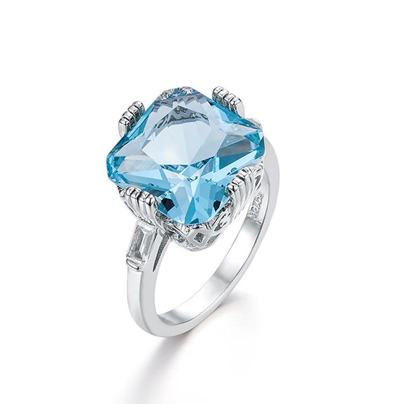 1X-Anillo-Nupcial-De-Compromiso-Con-Anillo-De-Diamante-De-Topacio-Azul-Con-A2O9 miniatura 7