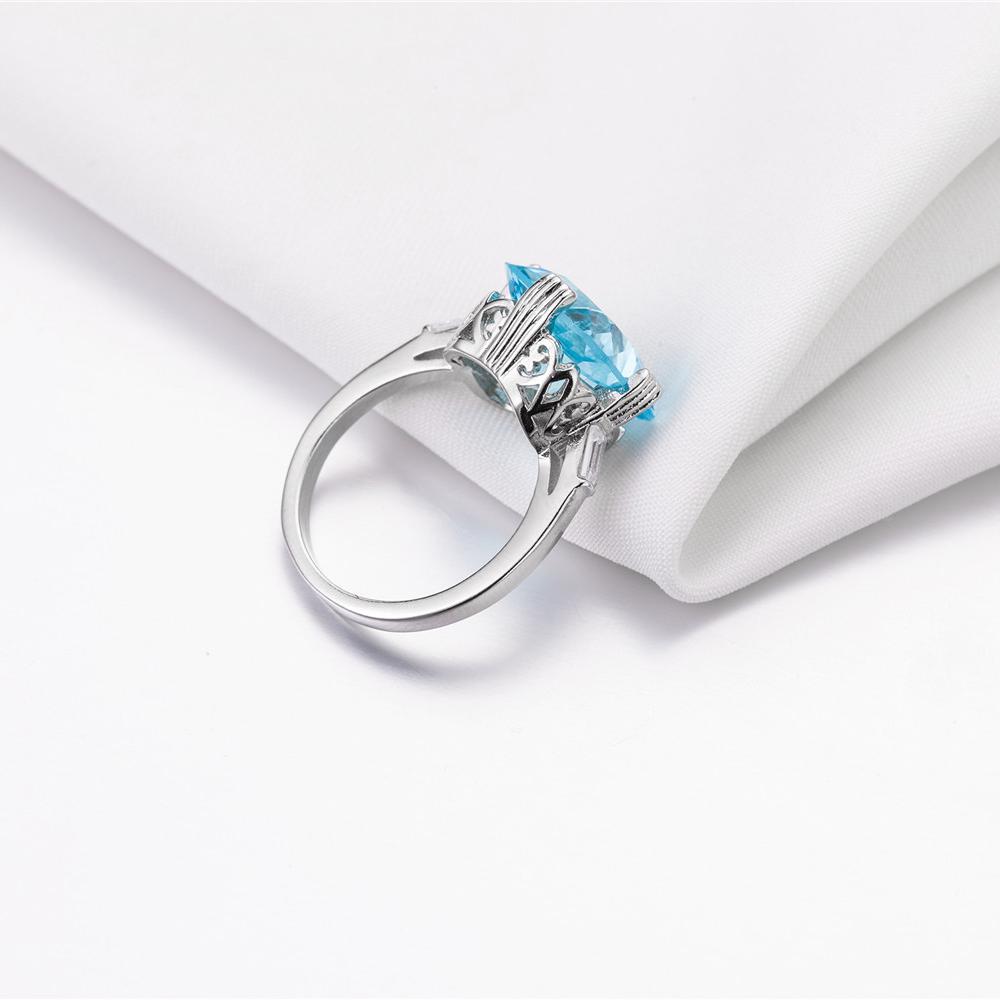 1X-Anillo-Nupcial-De-Compromiso-Con-Anillo-De-Diamante-De-Topacio-Azul-Con-A2O9 miniatura 8