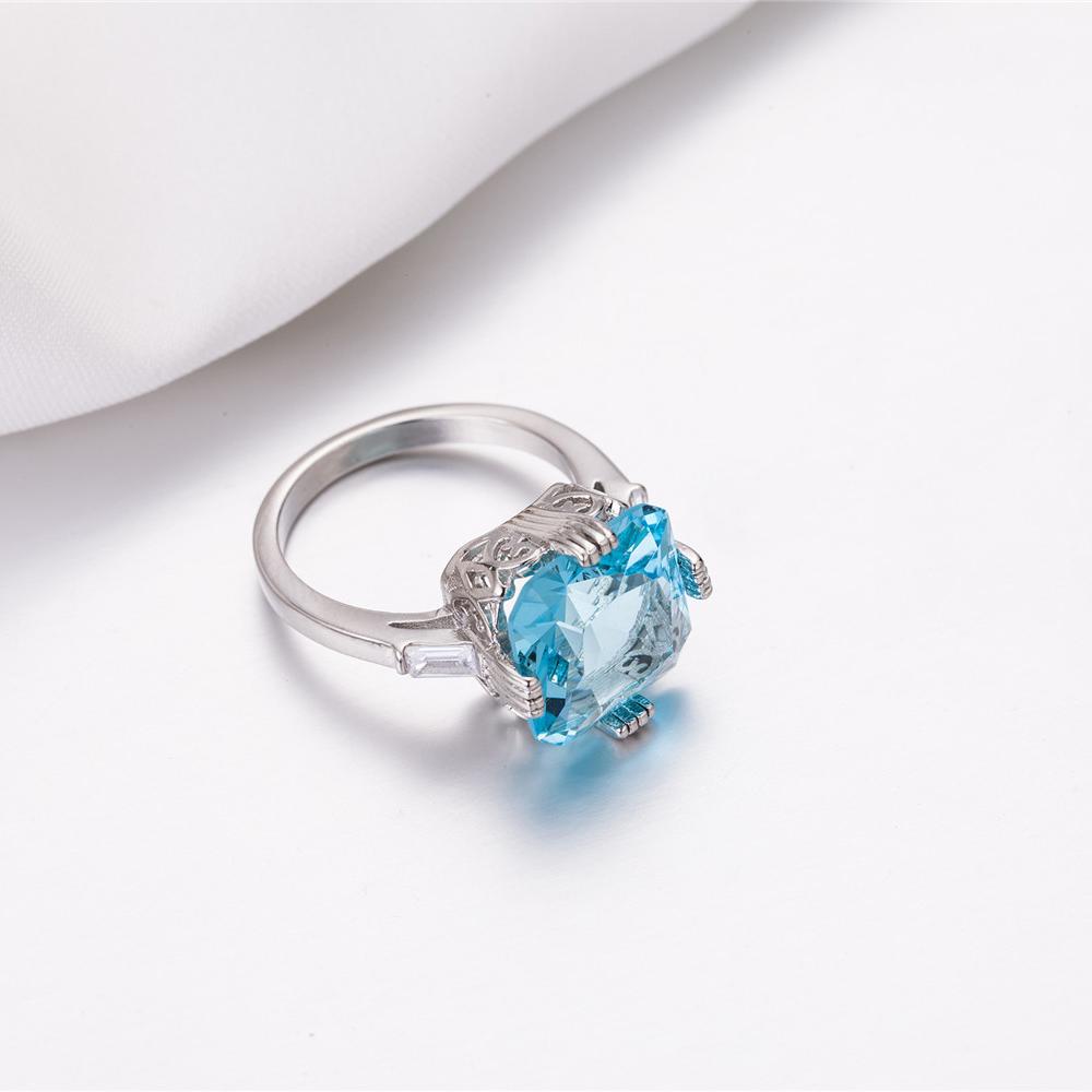 1X-Anillo-Nupcial-De-Compromiso-Con-Anillo-De-Diamante-De-Topacio-Azul-Con-A2O9 miniatura 9