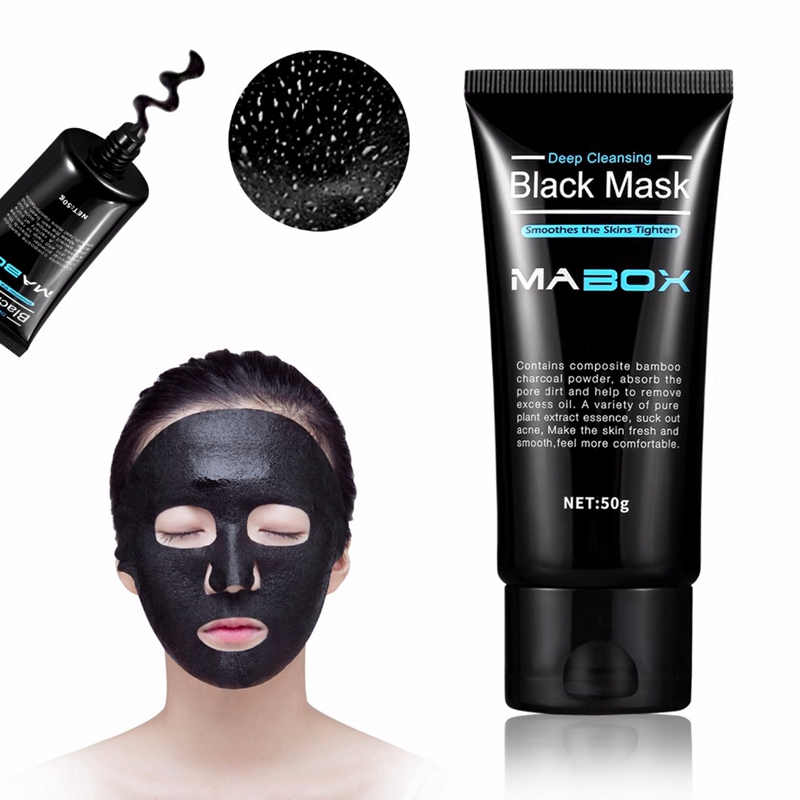 2X-Mabox-Black-Mask-Peel-Off-Bamboo-Charcoal-Purifying-Blackhead-Remover-Ma-C5M9 thumbnail 4