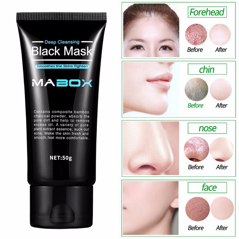 2X-Mabox-Black-Mask-Peel-Off-Bamboo-Charcoal-Purifying-Blackhead-Remover-Ma-C5M9 thumbnail 8