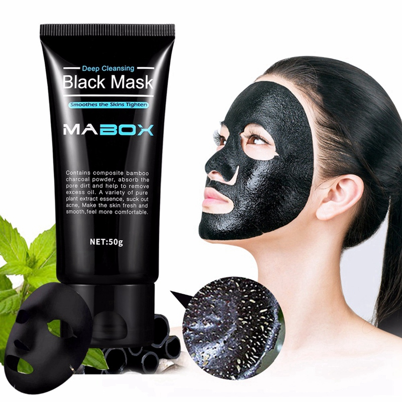 2X-Mabox-Black-Mask-Peel-Off-Bamboo-Charcoal-Purifying-Blackhead-Remover-Ma-C5M9 thumbnail 10