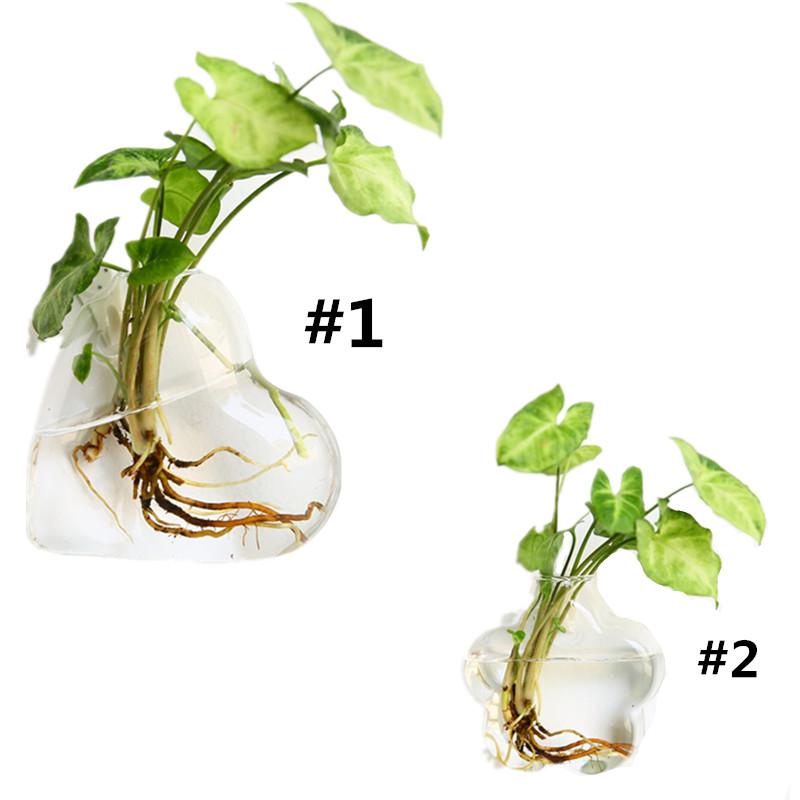 Geformte-Haengende-Glas-Vase-Haengende-Vase-Wand-Haengende-Pflanze-Blume-Kreat-V9A3 Indexbild 3