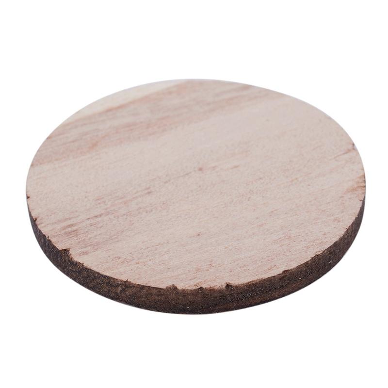 Indexbild 4 - 3X(10 X Holz Kreisformen, Plain Wood Craft Tags B9M8)