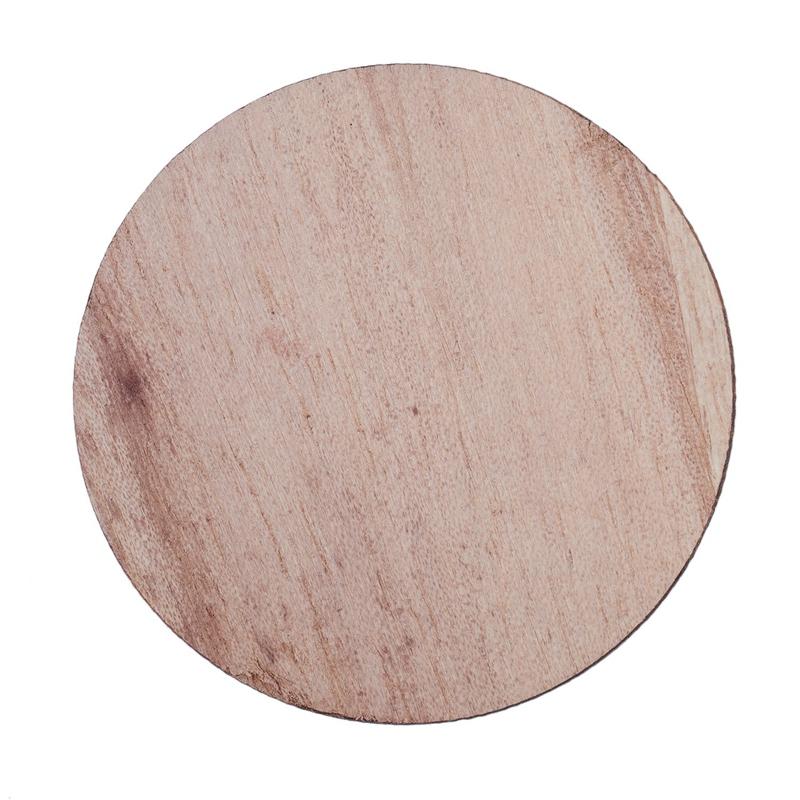 Indexbild 5 - 3X(10 X Holz Kreisformen, Plain Wood Craft Tags B9M8)