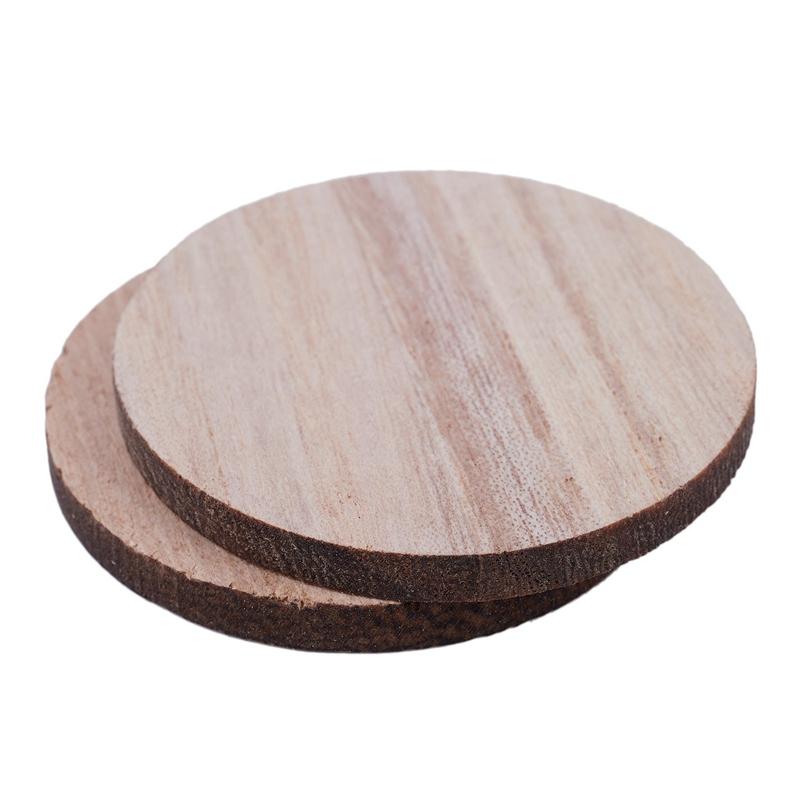 Indexbild 7 - 3X(10 X Holz Kreisformen, Plain Wood Craft Tags B9M8)