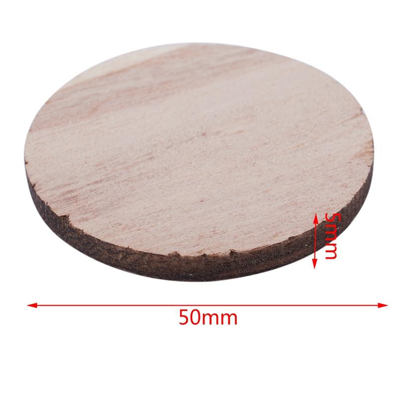 Indexbild 8 - 3X(10 X Holz Kreisformen, Plain Wood Craft Tags B9M8)