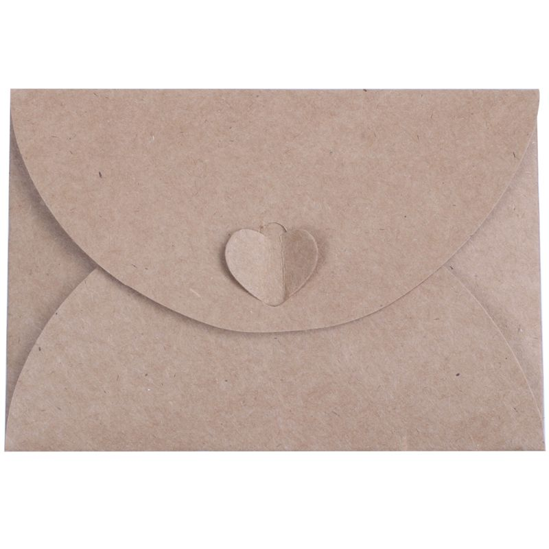 Mail & Shipping Supplies Paper Heart Buckle Envelope For Business Card Vip Bank Debit Card