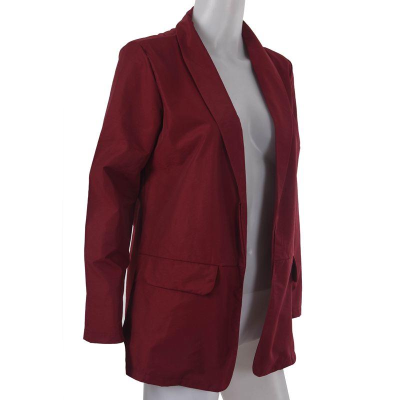 Femmes-Mode-Revers-Manches-Longues-Blazer-Manteaux-Vestes-Dames-Decontracte-L9P9 miniature 3