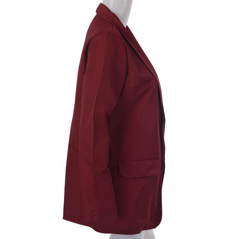 Femmes-Mode-Revers-Manches-Longues-Blazer-Manteaux-Vestes-Dames-Decontracte-L9P9 miniature 4