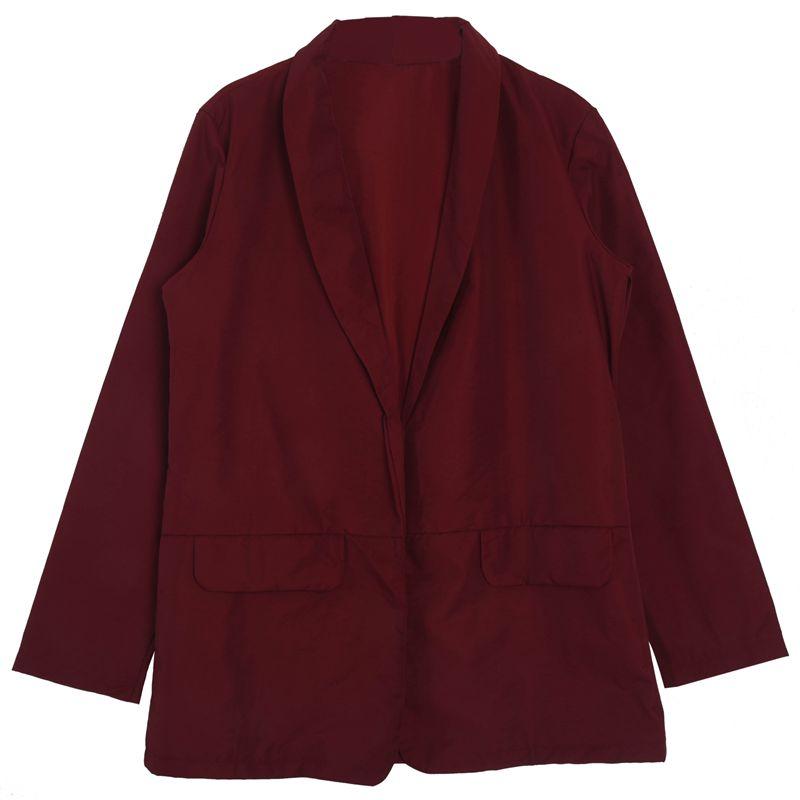 Femmes-Mode-Revers-Manches-Longues-Blazer-Manteaux-Vestes-Dames-Decontracte-L9P9 miniature 6