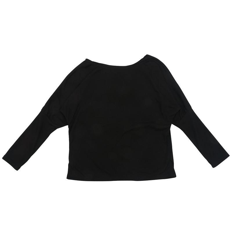 T-Shirt-Chandail-Cotele-En-Tricot-A-Longues-Manches-Une-Epaule-Sexy-Pour-Fe-E6P1 miniature 4