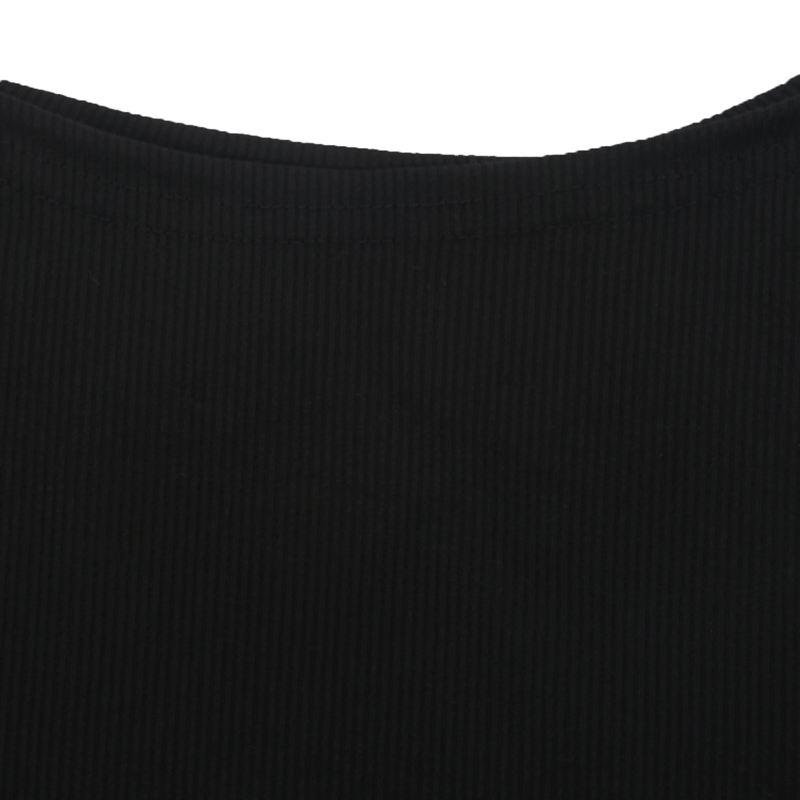 T-Shirt-Chandail-Cotele-En-Tricot-A-Longues-Manches-Une-Epaule-Sexy-Pour-Fe-E6P1 miniature 6