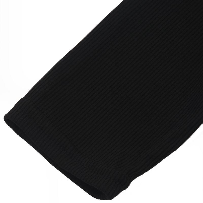 T-Shirt-Chandail-Cotele-En-Tricot-A-Longues-Manches-Une-Epaule-Sexy-Pour-Fe-E6P1 miniature 7
