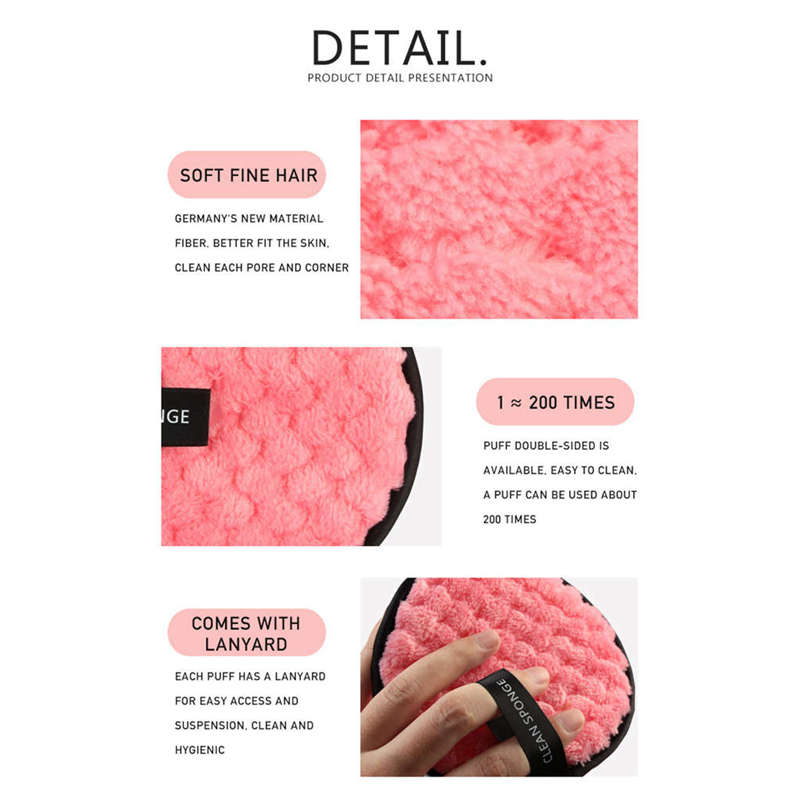 MAANGE-Microfiber-Cloth-Pads-Remover-Towel-Face-Cleansing-Makeup-Remover-Tools miniatuur 9