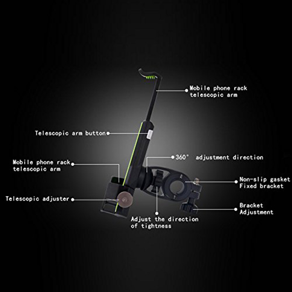 2X-Bicycle-Mobile-Phone-Holder-Fixed-Mountain-Bike-Accessories-Riding-Equip-C4L2 thumbnail 4
