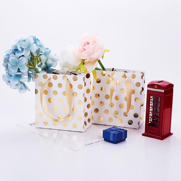 Backtasche Dot Cookie Verpackung flache Tasche Kleine Geschenk-Standbox