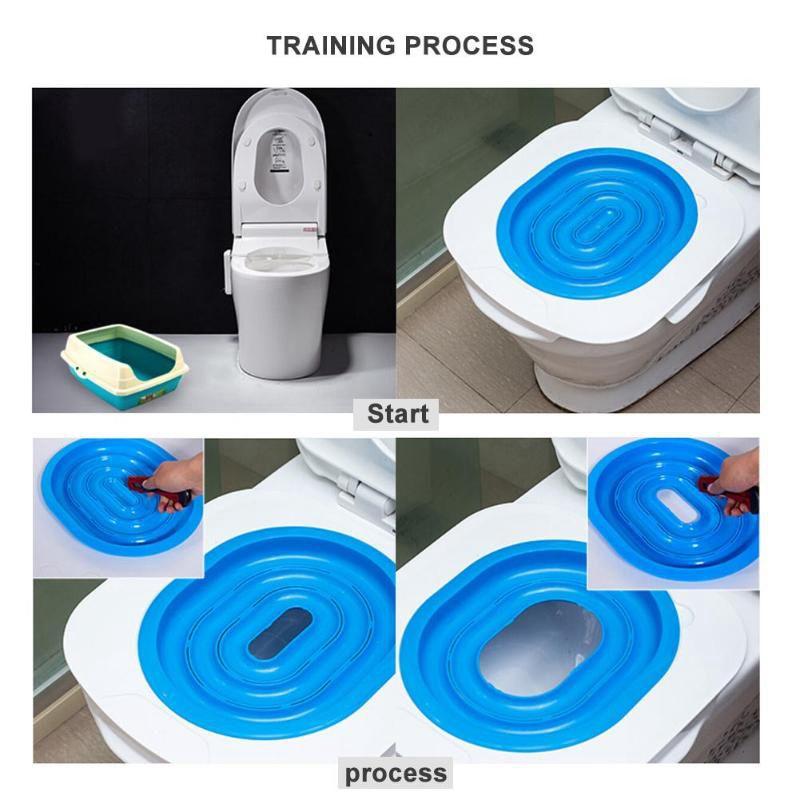 Mucjun Kit di Addestramento per Toilette in Plastica per Gatti Litter Box Puppy Litter Mat Toilet Trainer Prodotti per Gatti Prodotti per La Pulizia dei Gatti