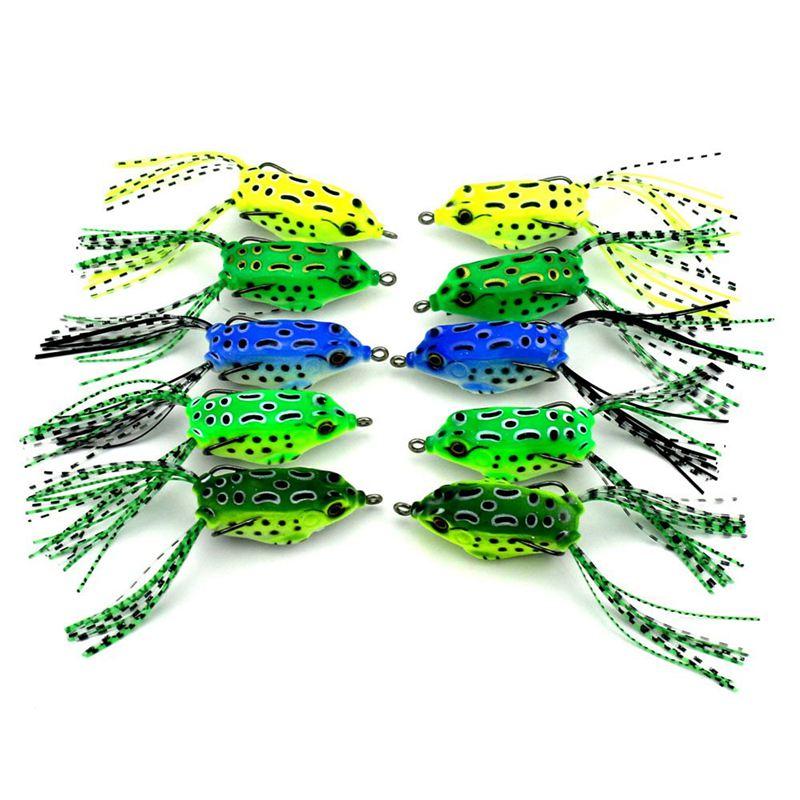 10X(HENG JIA Soft For Snakehead Pike Topwater Fishing Lures Set 0.3Oz-10Pcs X9F8