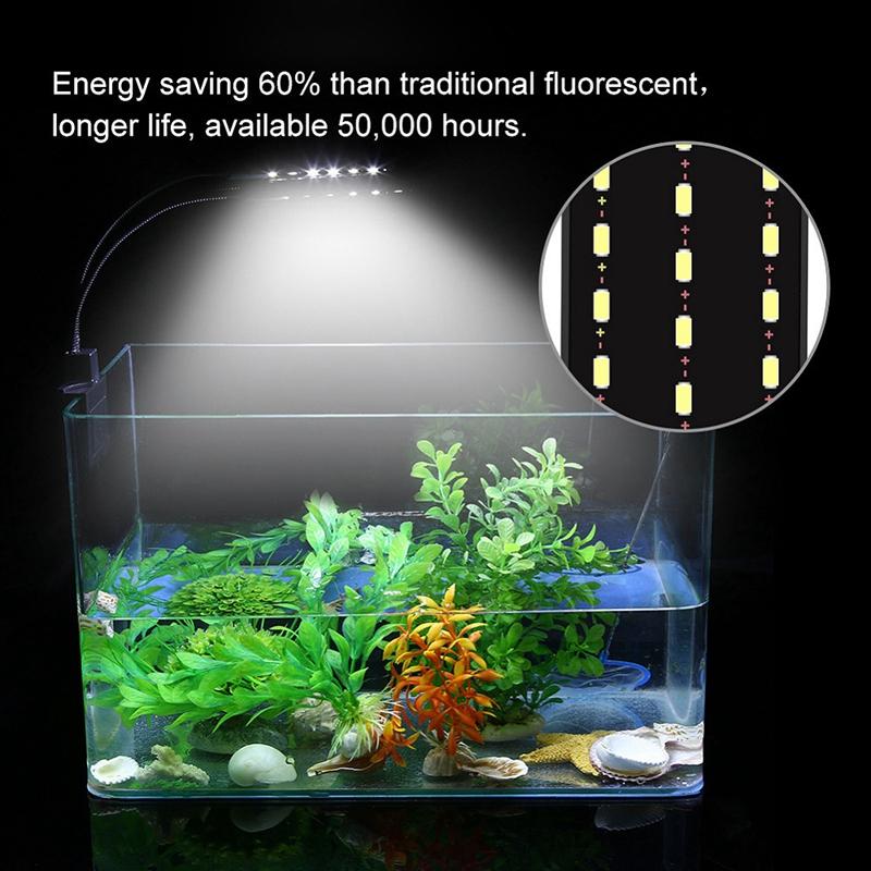9t 220v Lampe Agrafe Aquarium Led Détails Eclairage 15w Européenne Étanche Prise Sur 2WH9IDE