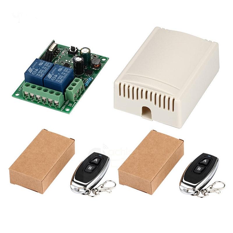 433 Mhz Universel Télécommande Sans Fil Commutateur Ac 85v 110v 220v 2ch Mo B9h9