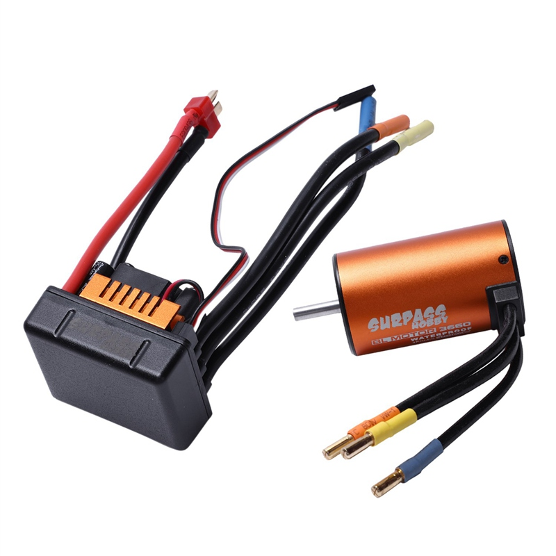 3X (SURPASS Hobby 3660 Sensorless 3800Kv motor sin escobillas con 80A Esc para 1 8V7)
