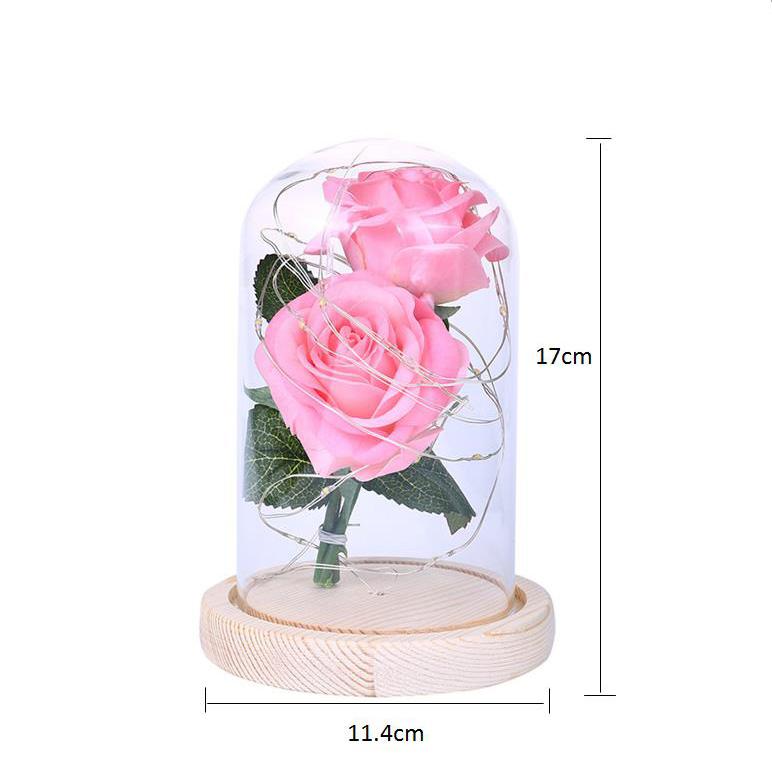 2X-Led-Rose-Battery-Powered-Flower-String-Light-Desk-Lamp-Romantic-Valentin-C4C5 thumbnail 3