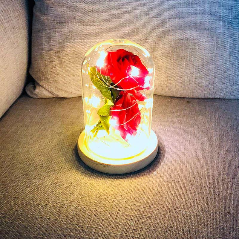 2X-Led-Rose-Battery-Powered-Flower-String-Light-Desk-Lamp-Romantic-Valentin-C4C5 thumbnail 5