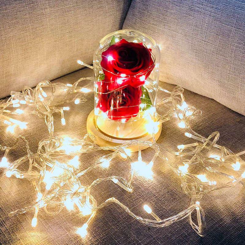 2X-Led-Rose-Battery-Powered-Flower-String-Light-Desk-Lamp-Romantic-Valentin-C4C5 thumbnail 8
