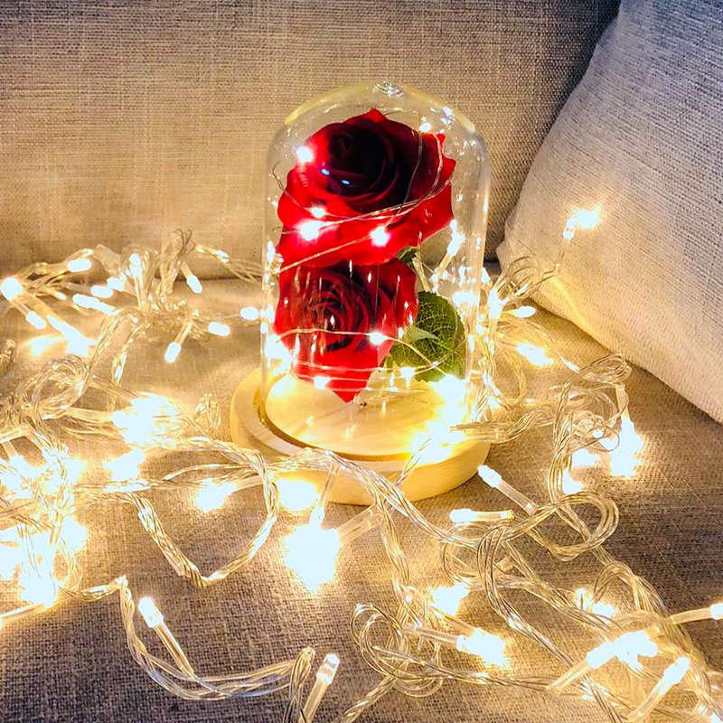 2X-Led-Rose-Battery-Powered-Flower-String-Light-Desk-Lamp-Romantic-Valentin-C4C5 thumbnail 9