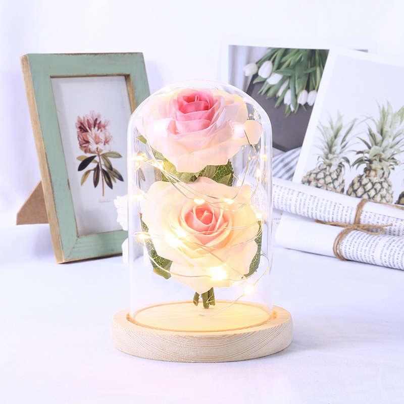 2X-Led-Rose-Battery-Powered-Flower-String-Light-Desk-Lamp-Romantic-Valentin-C4C5 thumbnail 13