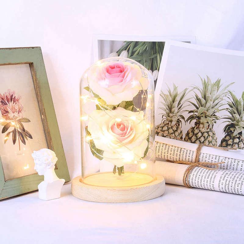 2X-Led-Rose-Battery-Powered-Flower-String-Light-Desk-Lamp-Romantic-Valentin-C4C5 thumbnail 14