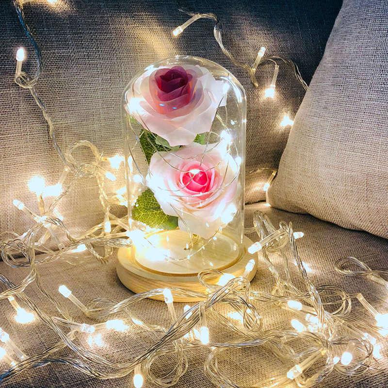 2X-Led-Rose-Battery-Powered-Flower-String-Light-Desk-Lamp-Romantic-Valentin-C4C5 thumbnail 15